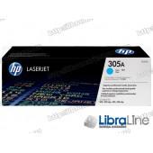 CE411A, Оригинальный лазерный картридж HP LaserJet, Голубой