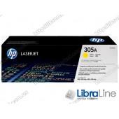 CE412A, HP 305A, Лазерный картридж HP LaserJet, Желтый