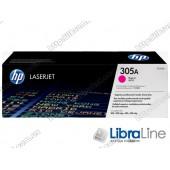 CE413A, HP 305A, Оригинальный лазерный картридж HP LaserJet, Пурпурный
