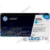 CE741A, HP 307A, Лазерный картридж HP LaserJet, Голубой