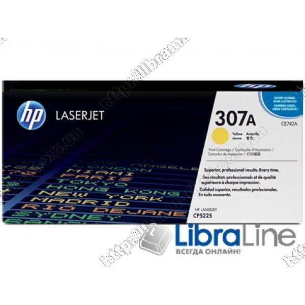 Купить CE742A, HP 307A, Лазерный картридж HP LaserJet, Желтый