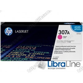 CE743A, HP 307A, Оригинальный лазерный картридж HP LaserJet, Пурпурный