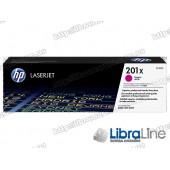CF403X HP 201X, Лазерный картридж HP LaserJet увеличенной емкости, Пурпурный