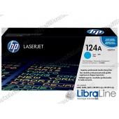 Лазерный картридж HP LaserJet, Голубой Q6001A, HP 124A