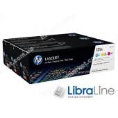 U0SL1AM, HP 131A, Упаковка 3 шт., Оригинальные лазерные картриджи HP LaserJet, Голубой / Пурпурный / Желтый