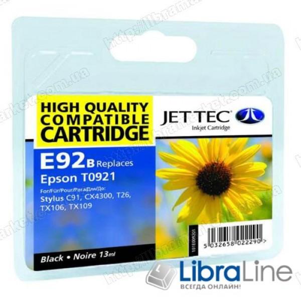 Картридж EPSON Stylus C91 / CX4300 / T26 / TX106 / 109 Jet Tec Black E92B 110E009201 G068711