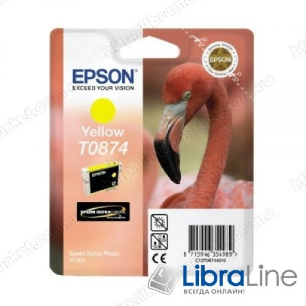 C13T08744010 Картридж EPSON Stylus Photo R1900 Yellow