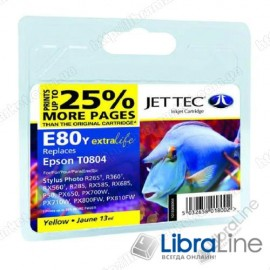 Картридж EPSON Stylus Photo P50 / PX660 / PX720WD Yellow E80Y Jet Tec 110E008004 G064448