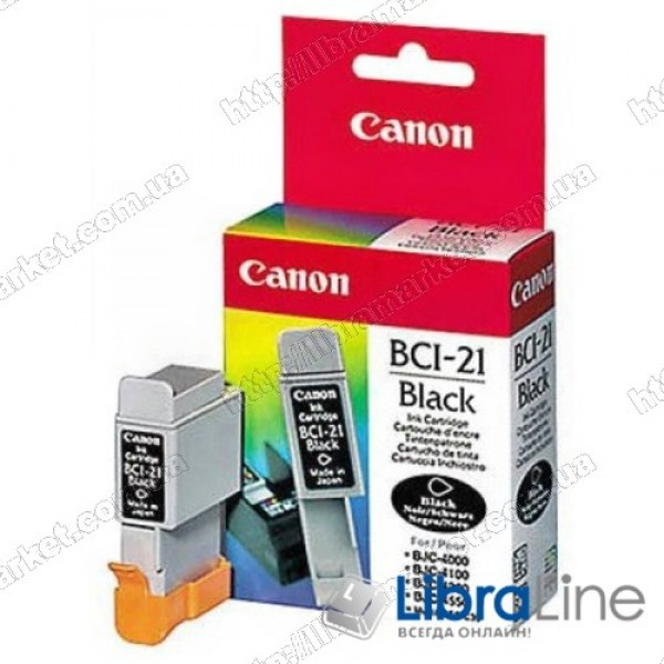 Чернильница картридж CANON BCI-21Bk BJC-2xxx / 4xxx / 5xxx / C20 / 30 / 50 Black 0954A002