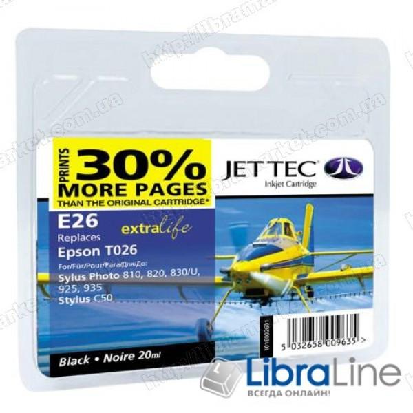 Картридж EPSON Stylus Photo 810 Jet Tec Black +30% E26 110E002601