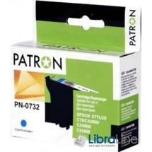 Картридж EPSON Stylus C79 / 110, CX3900 / 4900 / 5900 / 6900F / 7300 / 8300 / 9300F, TX200 / 209 / 210 / 219 / 400 / 409 / 410 / 419 / 550, Office T30 / T40W, TX300F / 510 / 550 / 600FW PATRON Cyan CI-EPS-T07324-C3-PN