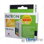Картридж EPSON Stylus C79 / 110, CX3900 / 4900 / 5900 / 6900F / 7300 / 8300 / 9300F, TX200 / 209 / 210 / 219 / 400 / 409 / 410 / 419 / 550, Office T30 / T40W, TX300F / 510 / 550 / 600FW PATRON Magenta CI-EPS-T07334-M3-PN