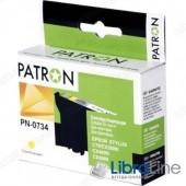 Картридж EPSON Stylus C79 / 110, CX3900 / 4900 / 5900 / 6900F / 7300 / 8300 / 9300F, TX200 / 209 / 210 / 219 / 400 / 409 / 410 / 419 / 550, Office T30 / T40W, TX300F / 510 / 550 / 600FW PATRON Yellow CI-EPS-T07344-Y3-PN