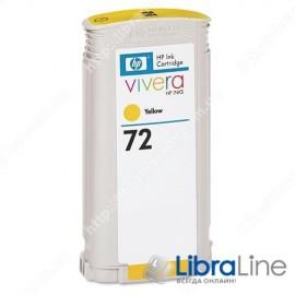 C9373A, HP 72, Струйный картридж DesignJet, 130 мл, Желтый