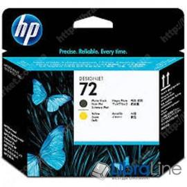 C9384A, HP 72, Печатающая головка DesignJet, Черная матовая и Желтая