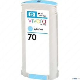 C9390A, HP 70, Струйный картридж HP, 130 мл, Светло-голубой