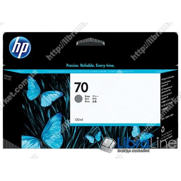 C9450A, HP 70, 130 мл Струйный картридж DesignJet, 130 мл, Серый