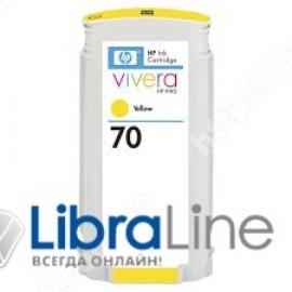 C9454A, HP 70, Струйный картридж DesignJet, 130 мл, Желтый