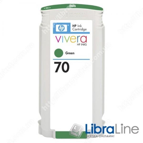 C9457A, HP 70, 130 мл Струйный картридж DesignJet, 130 мл, Зеленый
