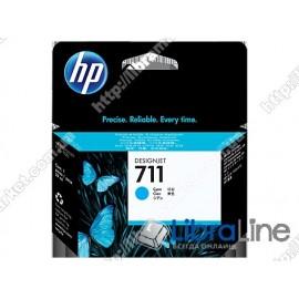 CZ130A, HP 711, Струйный картридж HP, 29 мл, Голубой