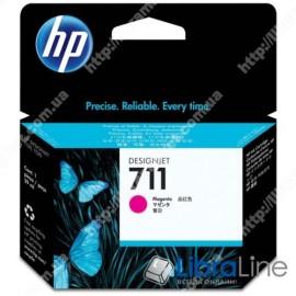 CZ131A, HP 711, Струйный картридж HP, 29 мл, Пурпурный