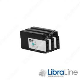 CZ134A, HP 711, Упаковка 3шт, Струйные картриджи HP, 29 мл, Голубые