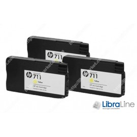 CZ136A, HP 711, Упаковка 3шт, Струйные картриджи HP, 29 мл, Желтые