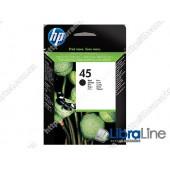 51645AE, HP 45, Струйный картридж HP, Большой, Черный