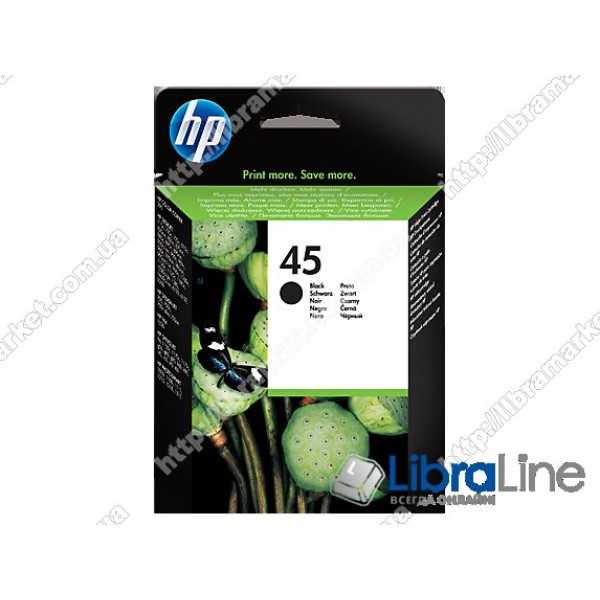 Струйный картридж HP, Большой, Черный 51645AE, HP 45