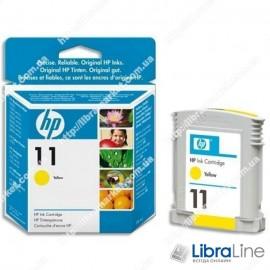 C4838A, HP 11, Оригинальный струйный картридж HP, Желтый