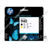 C4900A, Черная и желтая оригинальная печатающая головка HP 940