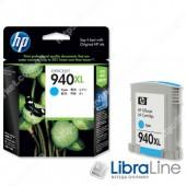 C4907AE, HP 940XL, Струйный картридж  HP увеличенной емкости, Голубой