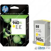 C4909AE, HP 940XL, Струйный картридж  HP увеличенной емкости, Желтый