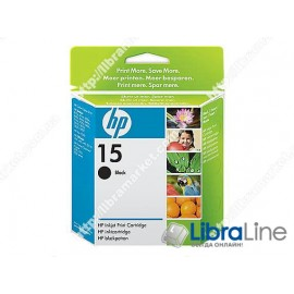 Струйный картридж  HP, Большой, Черный C6615DE, HP 15