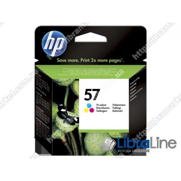 C6657AE, HP 57, Оригинальный струйный картридж HP, Трехцветный