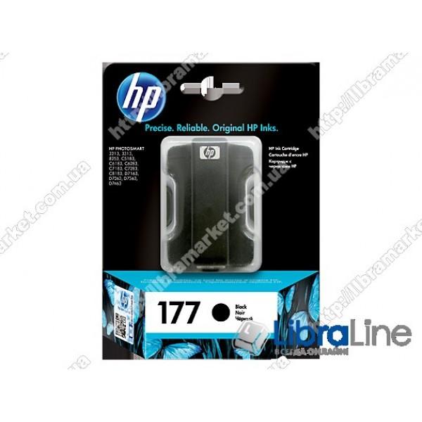 C8721HE, HP 177, Оригинальный струйный картридж HP, Черный