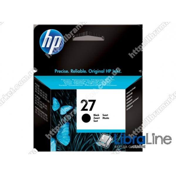 C8727AE, HP 27, Струйный картридж HP, Черный