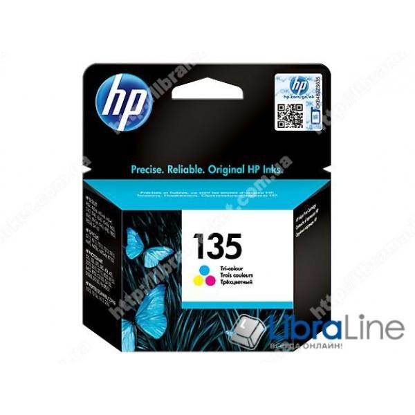 C8766HE, HP 135, Оригинальный струйный картридж HP, Трехцветный