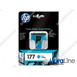 C8771HE, HP 177, Оригинальный струйный картридж HP, Голубой