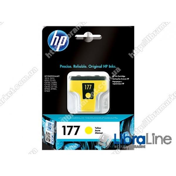 C8773HE, HP 177, Оригинальный струйный картридж HP, Желтый