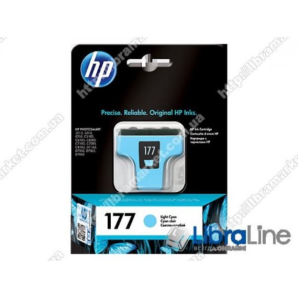 C8774HE, HP 177, Струйный картридж HP, Светло-голубой