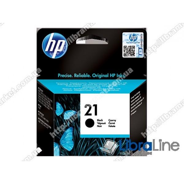 Картридж HP 21, Оригинальный струйный картридж HP, Черный C9351AE