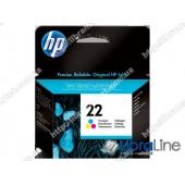 C9352AE, HP 22, Оригинальный струйный картридж HP, Трехцветный