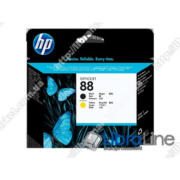 Черная и желтая оригинальная печатающая головка HP 88 C9381A