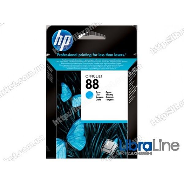 C9386AE, HP 88, Оригинальный струйный картридж HP, Голубой