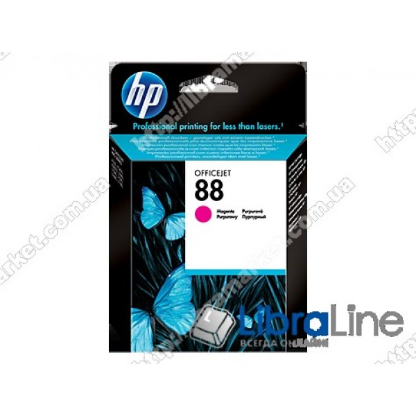 C9387AE, HP 88, Оригинальный струйный картридж HP, Пурпурный