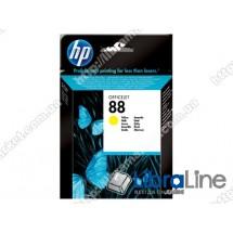 C9388AE, HP 88, Оригинальный струйный картридж HP, Желтый