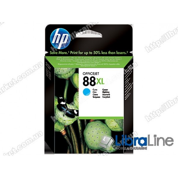 C9391AE, HP 88XL, Оригинальный струйный картридж HP увеличенной емкости, Голубой