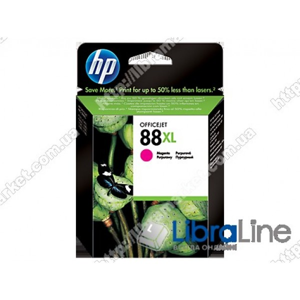 C9392AE, HP 88XL, Оригинальный струйный картридж HP увеличенной емкости, Пурпурный