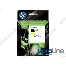 C9393AE, HP 88XL, Оригинальный струйный картридж HP увеличенной емкости, Желтый